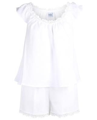 Bestickter Pyjama aus Leinen Paula CELESTINE