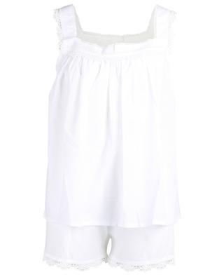 Gestreifter, bestickter Pyjama aus Baumwolle Pina CELESTINE