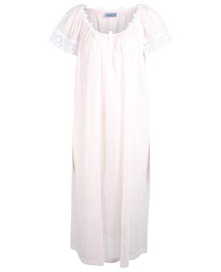 Langes blütenbesticktes Nachthemd aus Baumwolle Sabrina CELESTINE