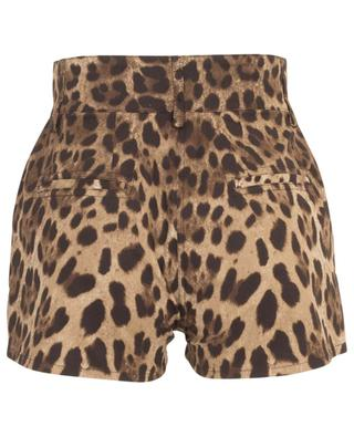 Leopard print cotton stretch mini shorts DOLCE & GABBANA