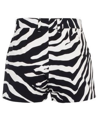 Shorts aus Baumwollmix mit Zebramuster DOLCE & GABBANA