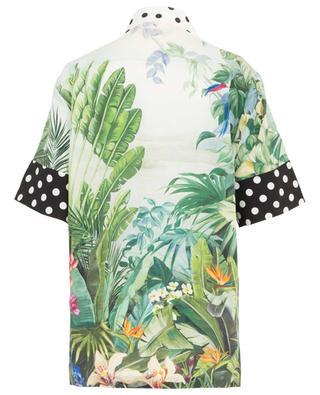 Kurzarm-Hemd aus Seide mit tropischem Print DOLCE & GABBANA
