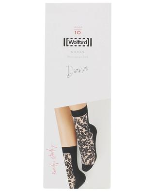 Diana DEN 10 socks with arabesques WOLFORD