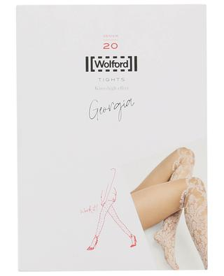 Georgia DEN 20 lace pattern tights WOLFORD