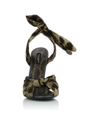 Keira leopard print silk twill sandales DOLCE & GABBANA