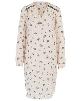 Mila printed nightshirt with lace details LAURENCE TAVERNIER