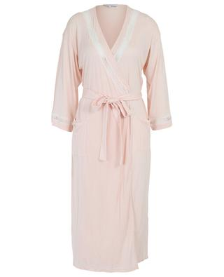 Celeste lace adorned modal bathrobe LAURENCE TAVERNIER