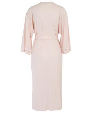 Celeste lace adorned modal bathrobe LAURENCE TAVERNIER