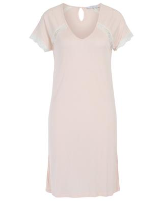 Celeste lace adorned modal nightshirt LAURENCE TAVERNIER