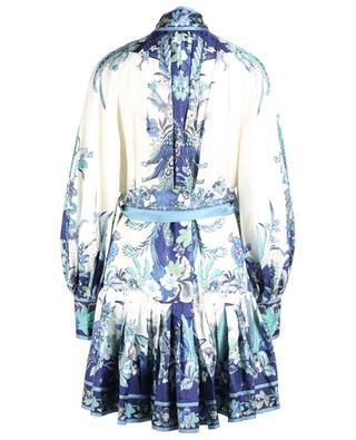 Kurzes Kleid aus Seide mit Blütenprint Glassy Placement ZIMMERMANN