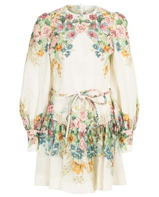 Linen dress with belt ZIMMERMANN