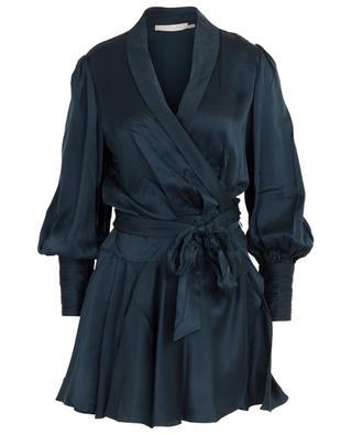 Short sueded silk wrap dress ZIMMERMANN