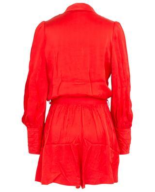 Sueded silk jumpsuit with belt ZIMMERMANN