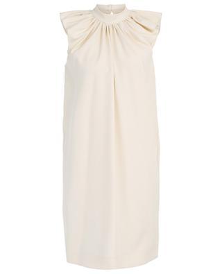 Ärmelloses Kleid aus Crêpe mit Rüschen VICTORIA BY VICTORIA BECKHAM