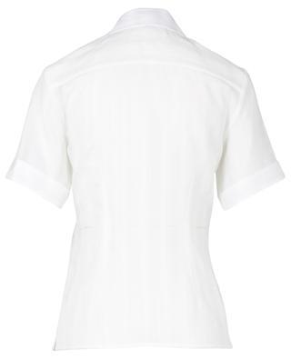 Kurzarm-Hemd aus texturiertem Stoff Lace Stripe VICTORIA BY VICTORIA BECKHAM