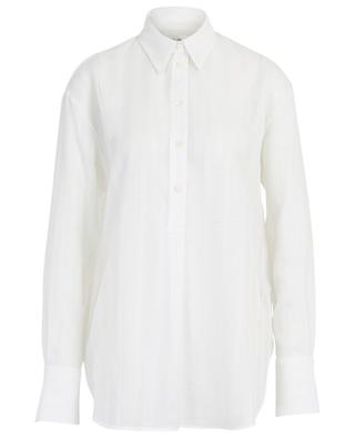Striped embroidered crepe shirt VICTORIA BY VICTORIA BECKHAM