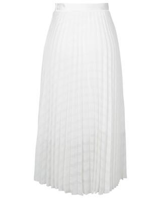 Jupe midi plissée texturée Lace Stripe VICTORIA BY VICTORIA BECKHAM