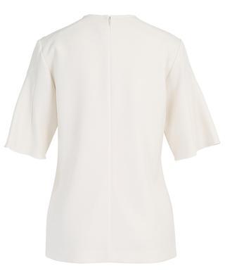 Short-sleeved textured viscose blend top VICTORIA BY VICTORIA BECKHAM