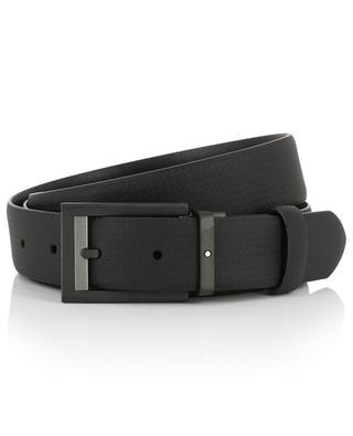 Print relaxed leather belt MONTBLANC