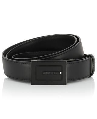 Ledergürtel mit rechteckiger schwarzer Schnalle MONTBLANC