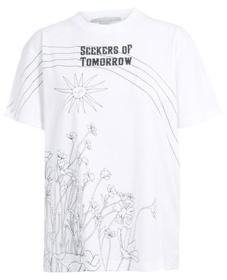T-Shirt mit Blüten- und Sonnenprint Seekers Of Tomorrow STELLA MCCARTNEY