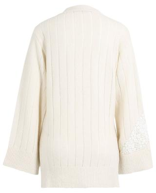 Lace adorned cashmere and wool cardigan STELLA MCCARTNEY