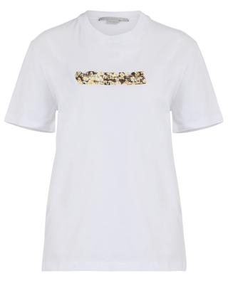 T-Shirt aus Baumwolle mit geblümter Applikation STELLA MCCARTNEY