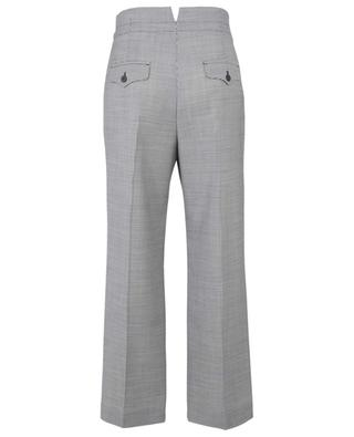 Pantalon large taille haute en laine motif pied-de-poule WINDSOR