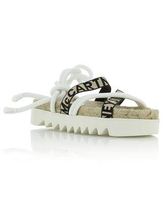 Gaia wedge espadrilles with logo straps STELLA MCCARTNEY
