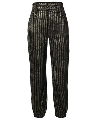 Lamé viscose and silk blend trousers SAINT LAURENT PARIS