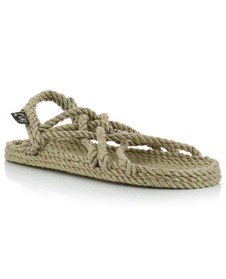 Sandales plates en corde et lurex JC Disco NOMADIC STATE OF MIND