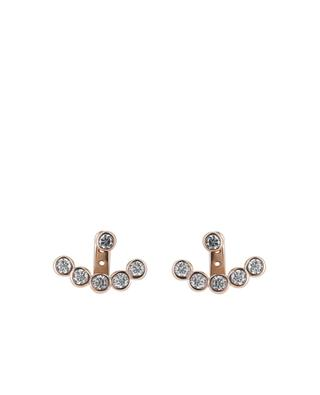 Rose gold-plated silver earrings with rhinestones AVINAS