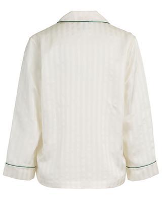 Luggage striped satin pyjama shirt ERES
