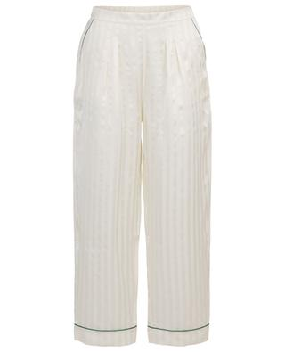 Passport striped satin pyjama trousers ERES