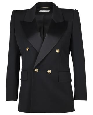 Double-breasted wool suit jacket SAINT LAURENT PARIS