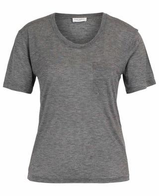 T-shirt rayé en viscose SAINT LAURENT PARIS