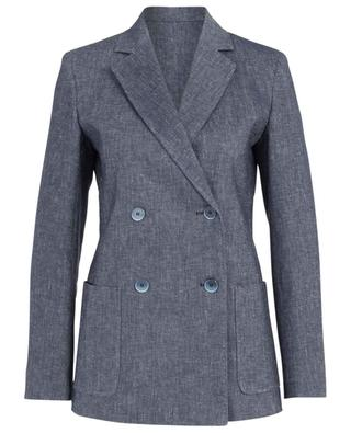 Fleur mottled linen and cotton blend blazer MAXMARA STUDIO