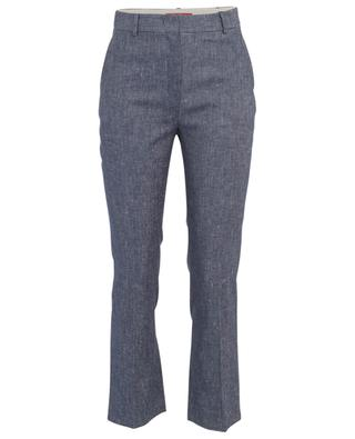 Gara mottled linen and cotton blend trousers MAXMARA STUDIO