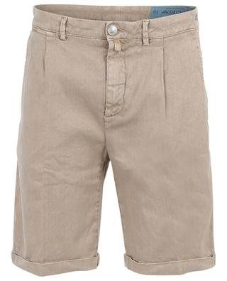 Cruise 1869 linen and cotton blend Bermuda shorts JACOB COHEN