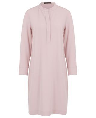 Robe chemise ample en crêpe WINDSOR