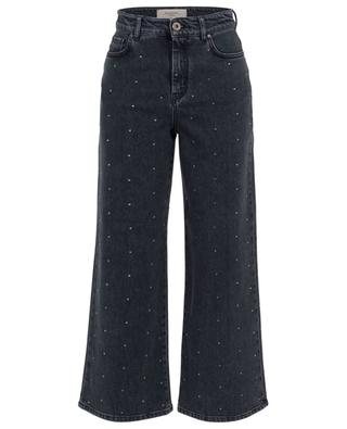 Full crystals adorned cropped wide jeans WEEKEND MAXMARA