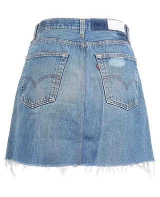 High-rise denim mini skirt RE/DONE
