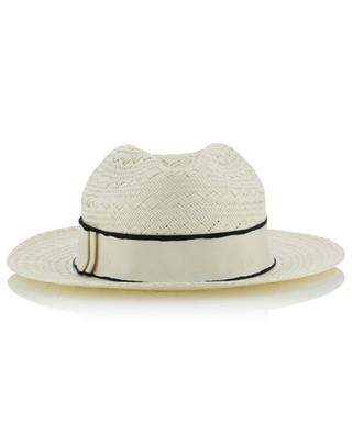 Chapeau tissé de papier avec ruban Marco ERES
