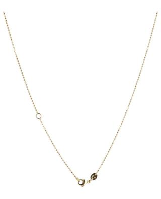 Géode yellow gold necklace with ruby and sapphire GBYG