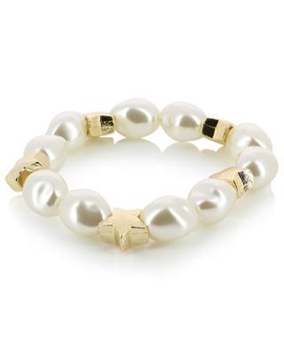Daisy faux pearl stretch bracelet THEGOLDLOVESHOP