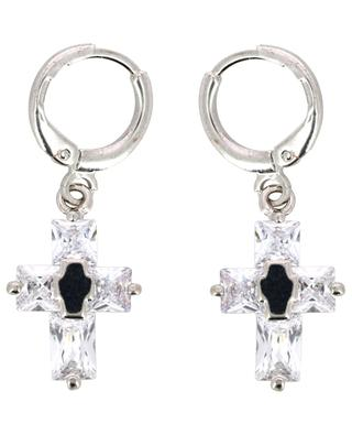 Mini Cruzy single silver earring with cross THEGOLDLOVESHOP