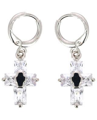 Mini Cruzy single silver earring with cross THEGOLDLOVESHOP