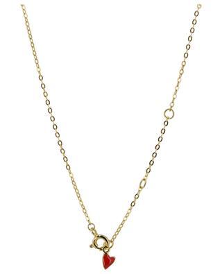 Goldene Halskette mit emailliertem Herzen Heart THEGOLDLOVESHOP