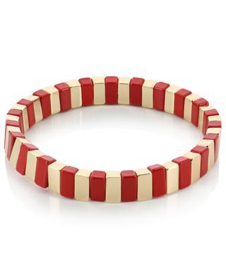 Email Love stretch golden metal bracelet THEGOLDLOVESHOP