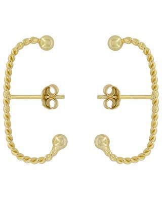 Torsade Long golden stud earrings THEGOLDLOVESHOP
